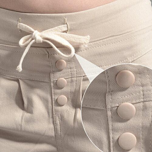 長褲 - 排釦抽繩褶皺口袋休閒窄管彈力褲【23275】藍色巴黎《4色: S~L》現貨+預購 1