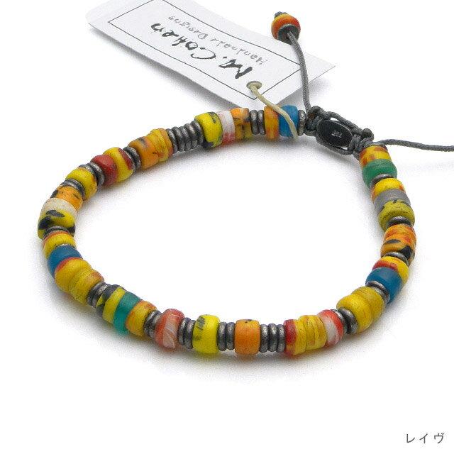 【現貨商品】【M.Cohen】非洲剛果仿舊串珠手環 (MC-B-101061-SLV 07165100OK ) 0