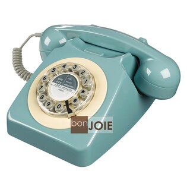 ::bonJOIE :: 746 Phone 1960's 經典懷舊復古電話機 (法國藍) 復古電話 經典電話 懷舊電話 復古風格 工業風 設計師款 桌上電話