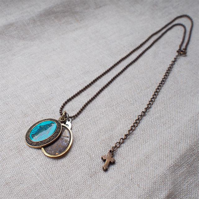 【海外訂購】【amp japan】彩繪玻璃瑪麗亞項鍊(AMP-11AD-300-Blue  0600410002) 3
