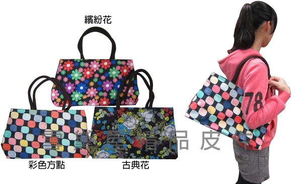 ~雪黛屋~HTW 托特包購物袋簡易袋二層主袋手提肩背防水泥龍布材質多功能#7155