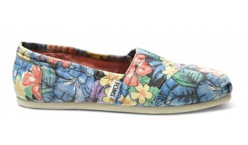 【TOMS】熱帶花朵平底休閒鞋  Faded Tropical Women's Classics 2