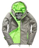 Superdry極度乾燥商品推薦[男款] OUTLET英國名品 代購 極度乾燥 Superdry Windtrekker 男士風衣戶外休閒外套 防水 灰色/螢光綠