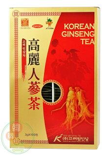 【韓購網】韓國高麗元人蔘茶300g★每盒有100小包★細緻顆粒容易溶解