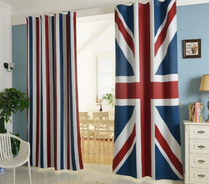 超值英倫風英國國旗特色窗簾