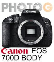 Canon佳能到【12期零利率】 Canon 700D 機身 body BODY  700d 不含鏡頭 【送  32G 記憶卡+清潔組+保護貼】; 彩虹公司貨