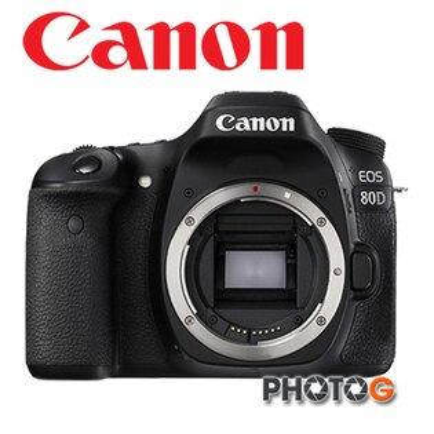 Canon 80D Body  單機身 不含鏡頭 (彩虹公司貨)【隨貨送 64G+清潔組+副廠快門線、9/30前申請 LPE6N 原廠電池+1TB 硬碟】