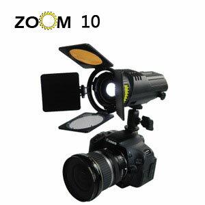 VISIO 光陽 ZOOM  10  zoom10 聚焦 LED 燈 攝影燈 (含AC/DC變壓器+雲台) 高光 單燈不含電池  持續燈 公司貨  MIT 台灣製