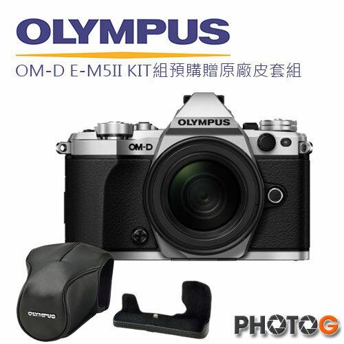【送相機包+SD 32G+清保組】 Olmypus OMD EM5 Mark II + 12-40 鏡頭 組  五軸防震 防滴防塵 即時合成 元佑公司貨