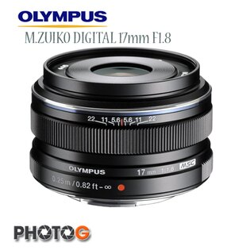 OLYMPUS 17mm F1.8  M.ZUIKO DIGITAL  黑色定焦鏡頭  拆鏡(17_18 ;元佑公司貨; Ø 46mm LH-48B)