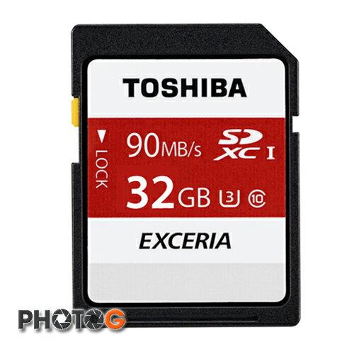 (new)  東芝 Toshiba EXCERIA 32GB SDHC N302 U3 記憶卡 (讀取90MB/s、富基公司貨) UHS-I Class3  日本製造