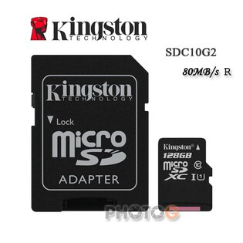 金士頓 KingSton 128G/128GB microSDHC/SDXC 記憶卡 SDC10G2  – Class 10 UHS-I ,終身保固,T-Flash/microSD
