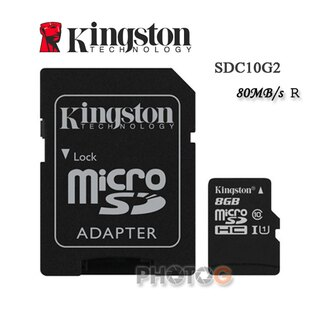 金士頓 Kingston 8G / 8GB microSDHC/SDXC 記憶卡 SDC10G2 – Class 10 UHS-I (寫80mb/s,終身保固)