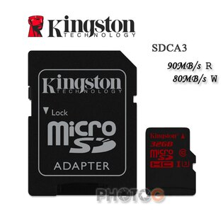 600X Kingston SDCA3  microSDHC / SD 32GB 32G  class 10 UHS-I  U3 讀90mb/S 寫80mb/s 4K 錄影 Gopro 終身保固