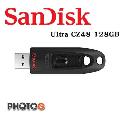 SanDisk Ultra 128G 128GB  CZ-48 CZ48 隨身碟 USB 3.0 版本 S-SDCZ48-128G-UAM46 (公司貨) 傳輸速度達 100MB