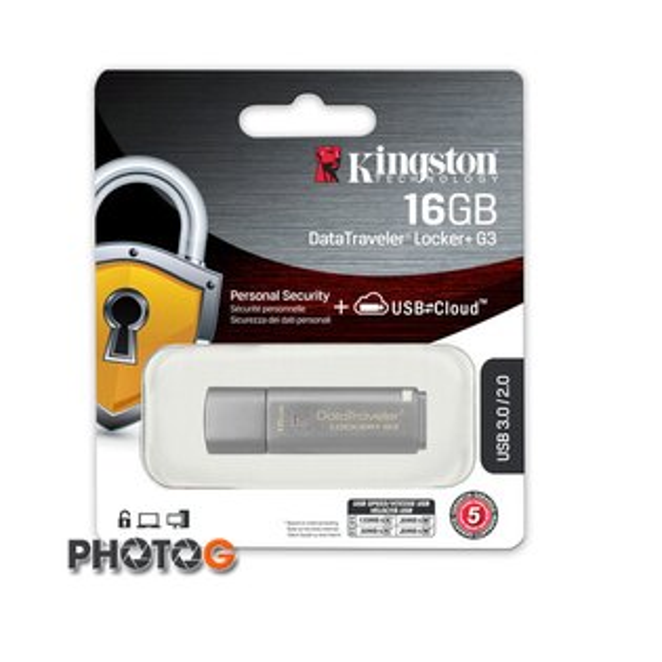 KingSton 金士頓  16G / 16GB DataTraveler Locker+ G3 加密 保護 隨身碟  DTLPG3/16GB (免運費)