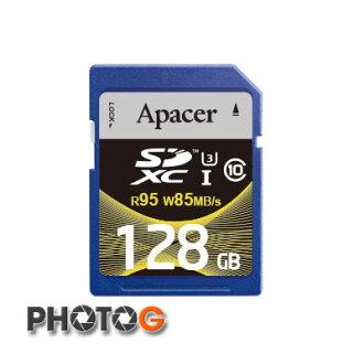 Apacer 宇瞻科技 128GB SDXC UHS-I U3 Class 10 記憶卡 (讀95MB/s、寫85MB/s) 終身保固 SD SDHC 4K 錄影