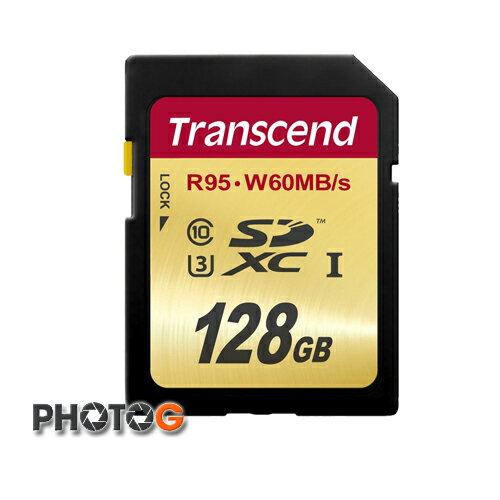 『最超值』創見 sd SDXC 633X 128G / 128GB Class 10 UHS-I U3  記憶卡 讀 95MB/s 寫 60MB/s (TS128GSDU3,終身保固)非 SDHC