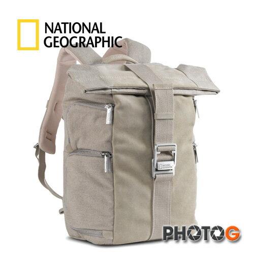 NG 國家地理 P5090 典藏系列 高級帆布與麂皮結合  後背包 雙肩背包   攝影包  (正成公司貨)