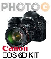 Canon佳能到【12期零利率】Canon EOS 6D KIT  (含24-70mm f4 原廠單鏡組 【9/30前 申 請送 64G+ LP-E6N原廠電池 ;  隨貨送 32G 記憶卡+清潔組+保護貼】