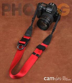 Cam-in Camin 忍者相機背帶  8813 紅色  速調 寬版 38mm 單車逸品 600D/7D/5D/D700/D800/D5100/A77/SONY