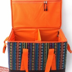 美麗大街~105062038~鮮豔款民族風收納袋收納包 日常雜物放置 便攜帶 易收納