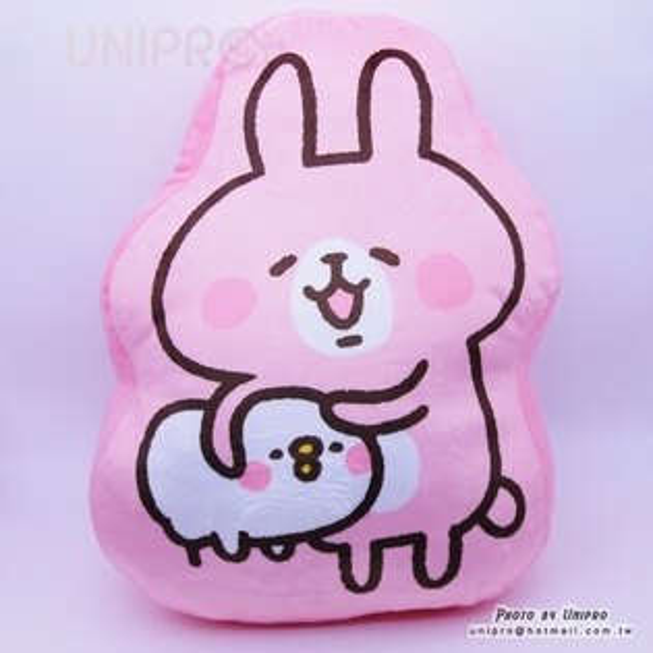 【UNIPRO】Kanahei 卡娜赫拉的小動物 兔兔抱P助 小雞 2D抱枕 靠枕 禮物 三貝多正版