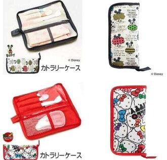 現貨 日本帶回 KITTY 卡通外出餐具收納包 餐具收納袋