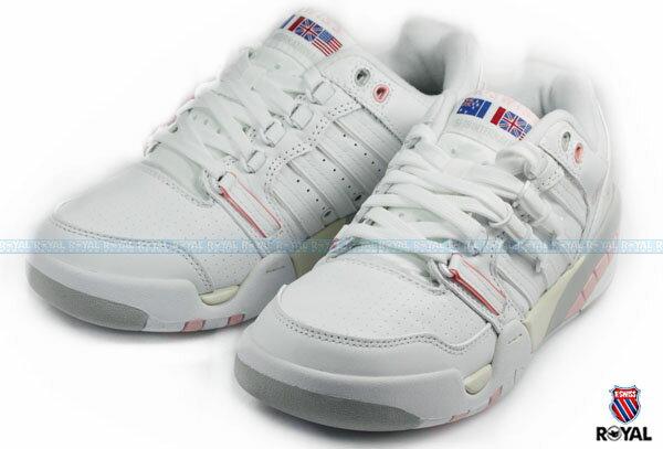 K-SWISS 新竹皇家 SI-18 INTERNATIONAL 白/粉 皮質 休閒鞋 女款 NO.I5810