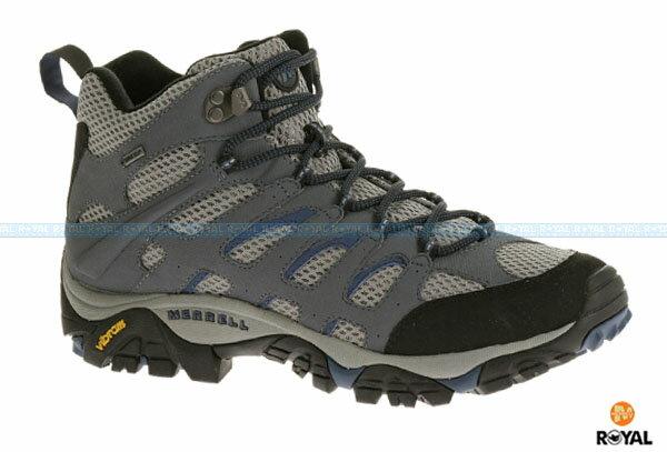 MERRELL 新竹皇家 MOAB MID GORE-TEX 灰藍 防水 運動鞋 高筒 男款 NO.A6390