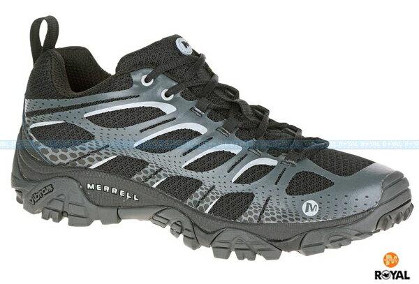 MERRELL 新竹皇家 MOAB EDGE 黑色 休閒 避震 運動鞋 男款 NO.A7558