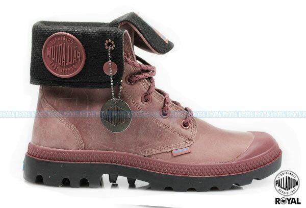 Palladium 新竹皇家 PAMPA BAGGY WP 酒紅 皮質 防水 反摺靴 女款 NO.I5924