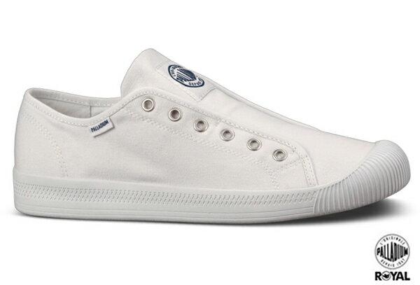 Palladium 新竹皇家 FLEX LACE ON  白色 水洗布 免鞋帶 懶人鞋 低統 女款 NO.I6624