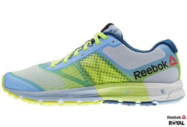 Reebok 新竹皇家 ONE CUSHION 2.0 螢光綠/淺藍 Running 慢跑鞋 女款 NO.I5228