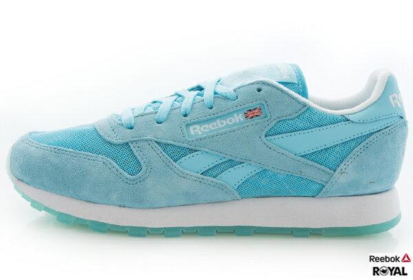 Reebok 新竹皇家 GL LEATHER ICE 淺藍 Classic復古 慢跑鞋 女款 NO.I5425
