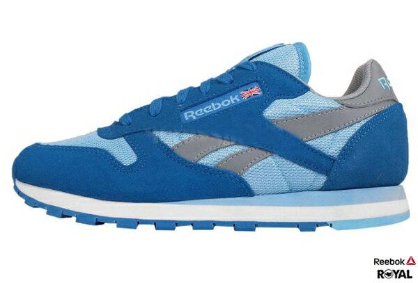 Reebok 新竹皇家 GL LTR SEASONAL II SPE 藍色 Classic復古 慢跑鞋 女款 NO.I5445