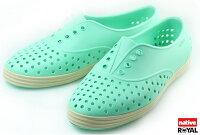 native 輕量懶人鞋、休閒防水鞋到新竹皇家 加拿大 Native JERICHO 綠色 呼吸 輕量 橡膠 鞋款 女款 免運費NO.I3840