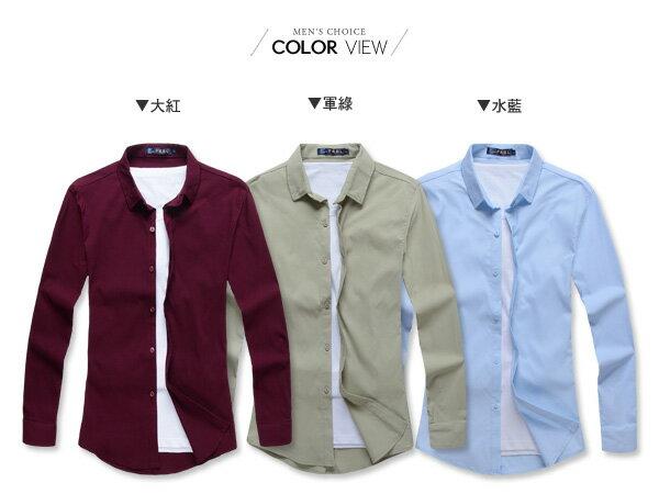 ☆BOY-2☆【NR92010】紳士質感素面修身長袖襯衫 1