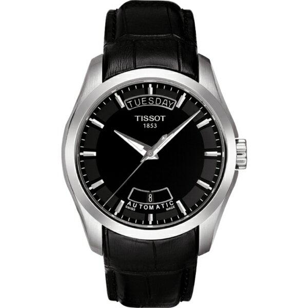 TISSOT天梭T0354071605100 建構師經典雙日曆腕錶/黑面39mm