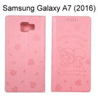 小熊維尼周邊商品推薦雙子星壓紋皮套 [粉] Samsung A710Y Galaxy A7 (2016)【三麗鷗正版授權】