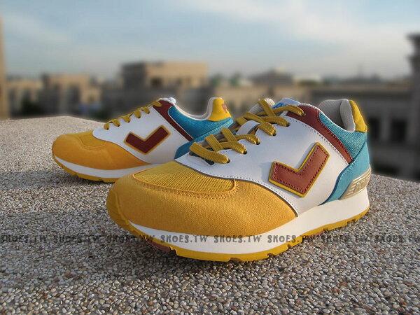 《超值5折》Shoestw【52W1SO66EY】PONY SOLA-T 復古慢跑鞋 內增高 黃白咖啡 古著