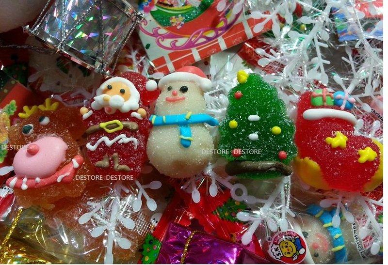 有樂町進口食品  聖誕節 水果風味 軟糖 (1000G/約80顆)~聖誕包裝 交換禮物 聖誕PARTY 果膠軟糖 0