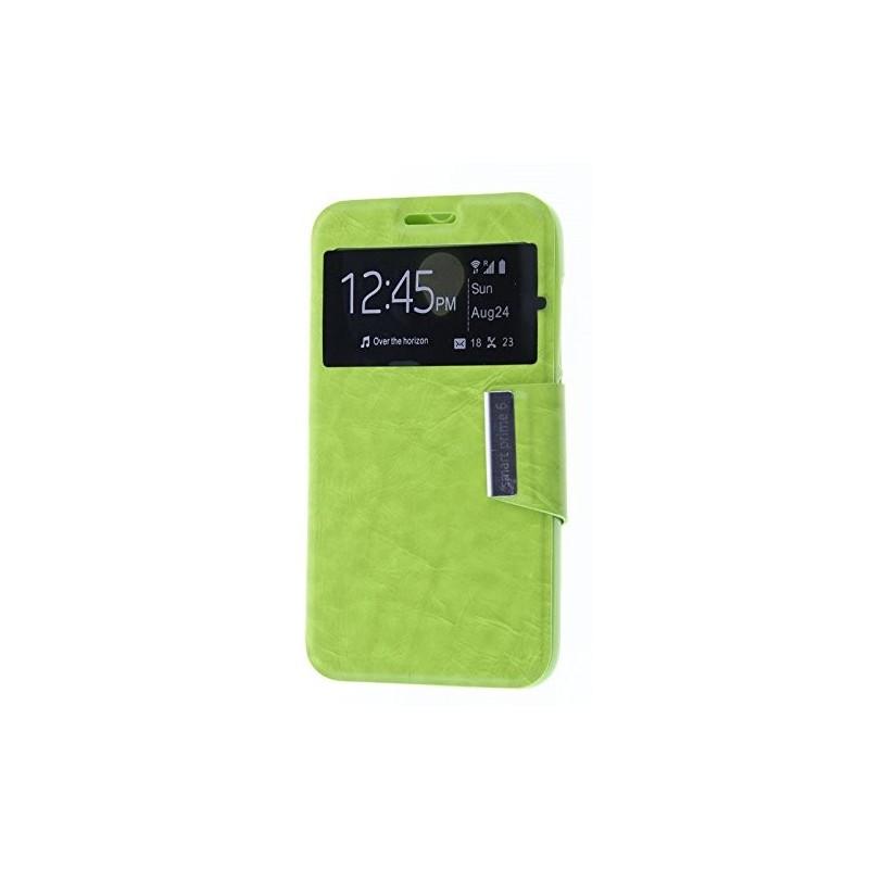 Funda CUERO Tipo LIBRO VENTANA Stand Vodafone Smart Prime 6 / Alcatel One Touch Pop 2 (5) 4