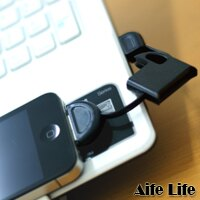 【aife life】Iphone/Ipod收納式充電傳輸線/隨身型/USB Cable/攜帶型/鎖匙扣,隨插即用更方便攜帶