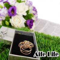 【aife life】工廠價格,造型九環三色戒,也可作為墬飾配帶