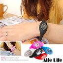 【aife life】果凍減壓負離子手錶(小)/石英錶手環手腕運動手錶矽膠橡膠