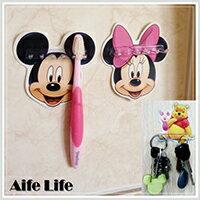 【aife life】迪士尼掛架/無痕掛勾/台灣製造正版授權迪士尼牙刷架多功能掛架專利商品神奇貼片