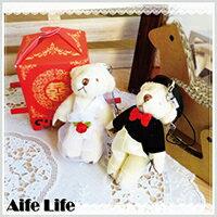 婚禮小物推薦到【aife life】可愛婚禮小熊(一對),婚禮小物/結婚/情人/聖誕禮,送人或當擺飾都適宜!!