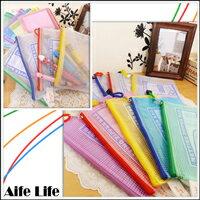 【aife life】A6透明網格單層拉鍊袋/收納袋/夾鏈袋/文件袋/資料夾,好攜帶可印字贈品禮品大方!!