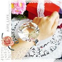【aife life】750克拉水晶大鑽戒-直徑6cm/可刻字/超大鑽戒/求婚告白/情人節禮物/婚禮小物/婚紗攝影